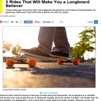 Popular Mechanics Loves Longboarding