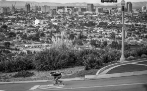 Brad Parker getting' gnar above the LBC. Photo: Bandy.