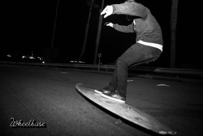 Bandy surfin da phalt in the LBC. Photo: David Marano.