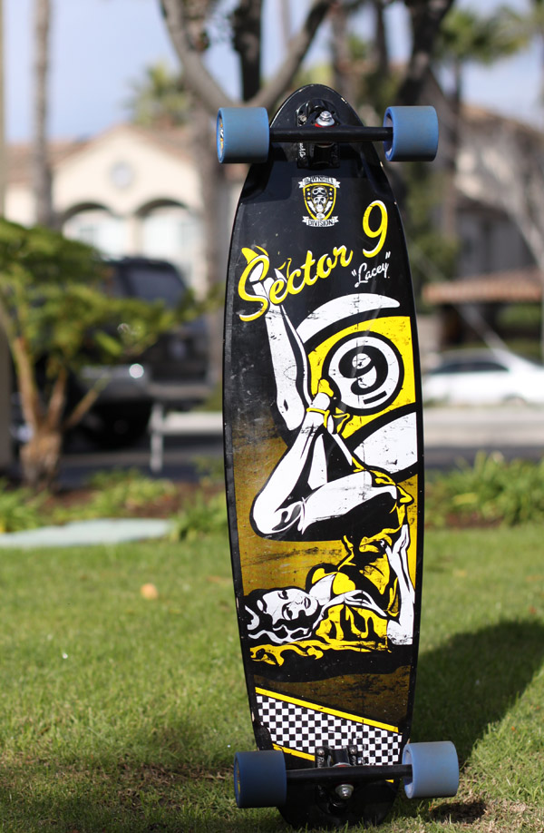 Board Review: Sector 9 Lacey Downhill Deck - Wheelbase ...  Board Review: S...