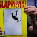 Tony Hawk, Mc Twist on a Gravity longboard, Dec. 1999 issue of Slap Magazine. Photo: Bandy.