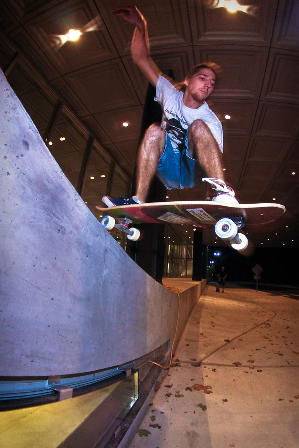 Steezed-out grabber off of some escalating archetecture. Photo: Bandy.