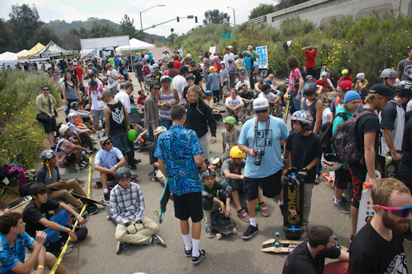 A whole heap of skaters were in attendance at the Disco. Photo: David Ruano.