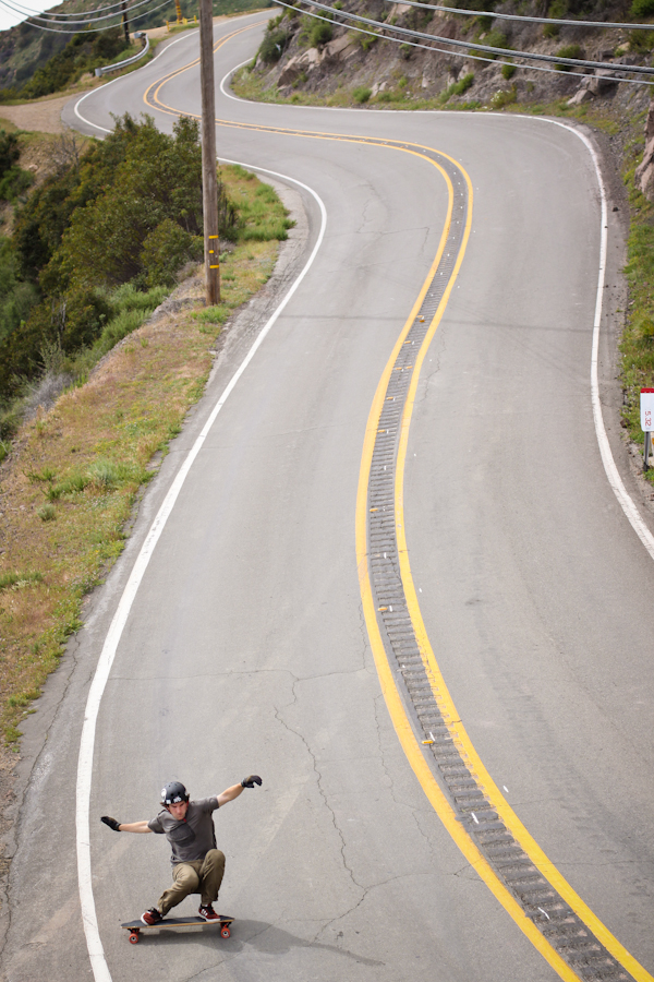 James doing what he does in the Malibu hills—go fast! Photo: Will Bacey.