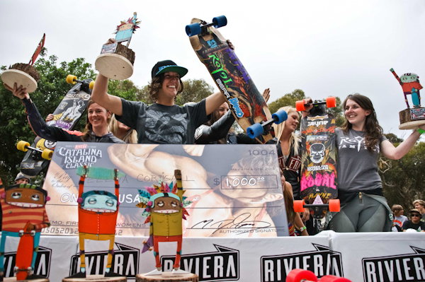 The Women's podium. Photo: Ruano.