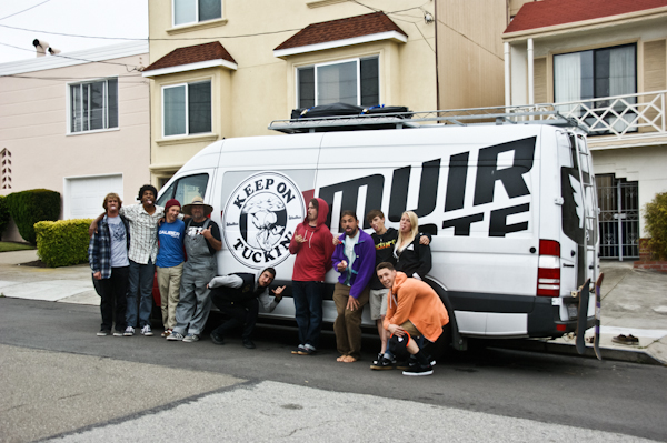 The Keep on Tuckin crew arrives in SF. Photo: Ruano.