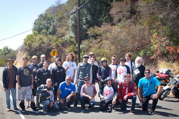 The crew of the Moto Radventure, 2013. Photo: Ruano.