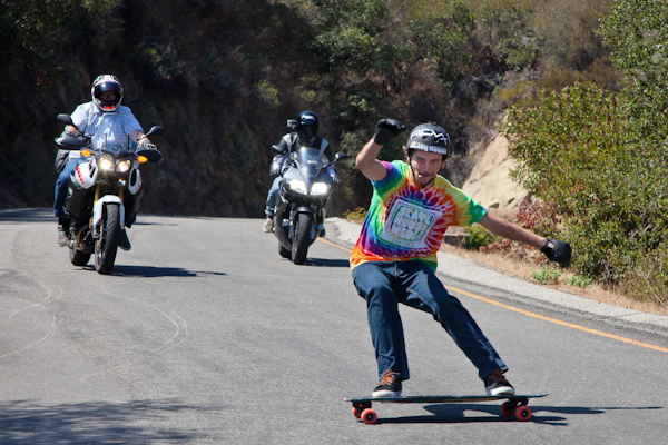 "Louis Pilloni leading a run down ""the"" Malibu one-way. Photo: Ruano."