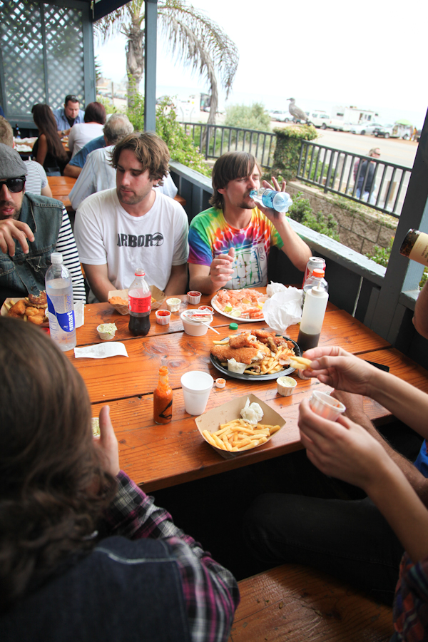 Lunchbreak at Neptune's Net. Photo: Ruano.