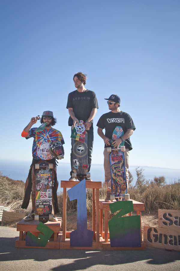 The Santa Gnarbara, 2013 podium. Photo: Bandy.