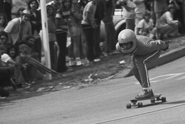 Mike Goldman, mobbin' Signal Hill, 197?. Photo: Unknown.