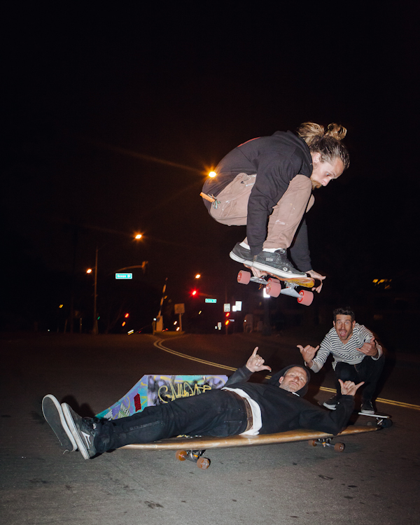 Brad Parker, Aaron Hollebeke, and myself getting weird in the LBC. Photo: Marano.