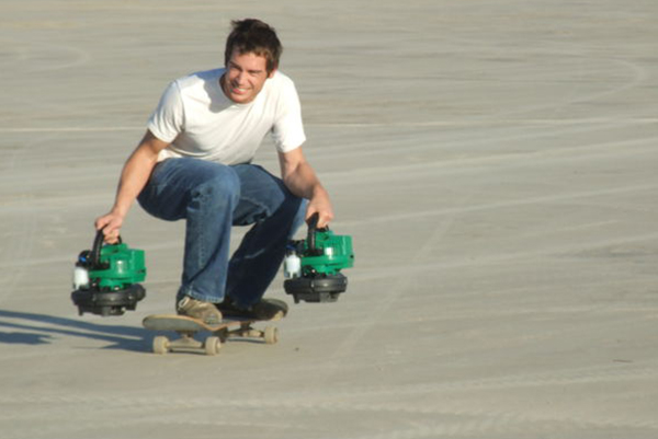 This is jet-powered skateboarding. . . Photo: John Deere.