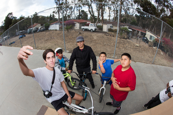 Oscar with his crew of Catalina locals. These kids were rad! Photo: Grove