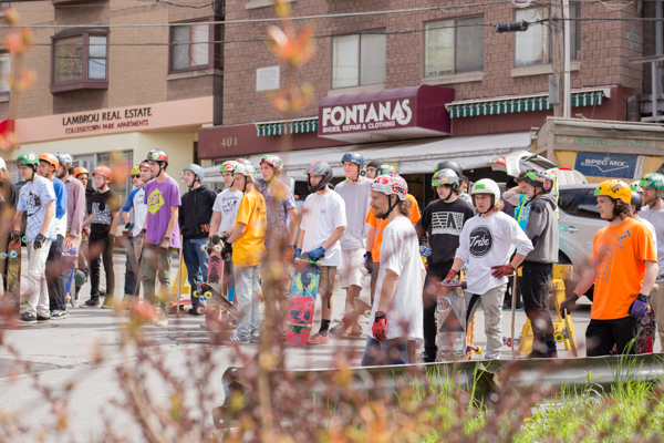 The top of the hill stayed packed with crews from around North America. Photo: Richmond