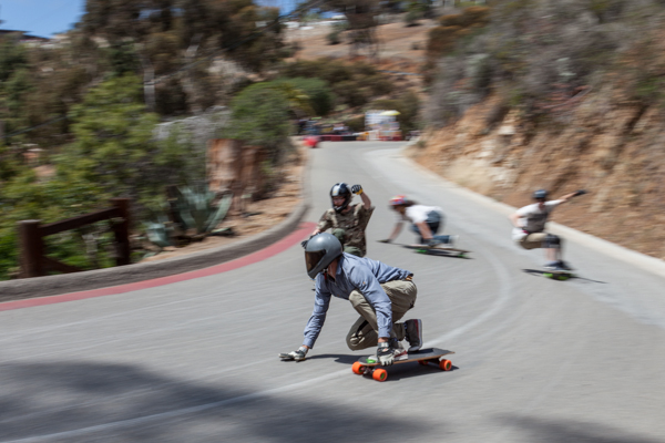 Travis Davenport of Push Culture leading the freeride pack. Photo: Ruano