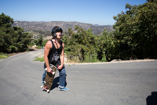 It was hot. Walking up wasn't rad, but the skate down was. Photo: Grove.