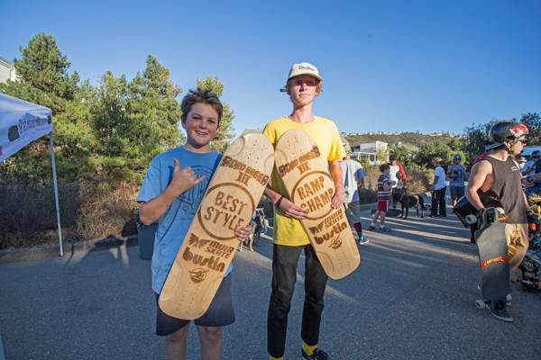 Cole and Ryan taking home the titles.  Photo: Grove