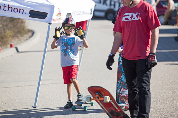 Riders of all age were charging it. This lil dude went harder than anyone else, all day long.  Photo: Grove