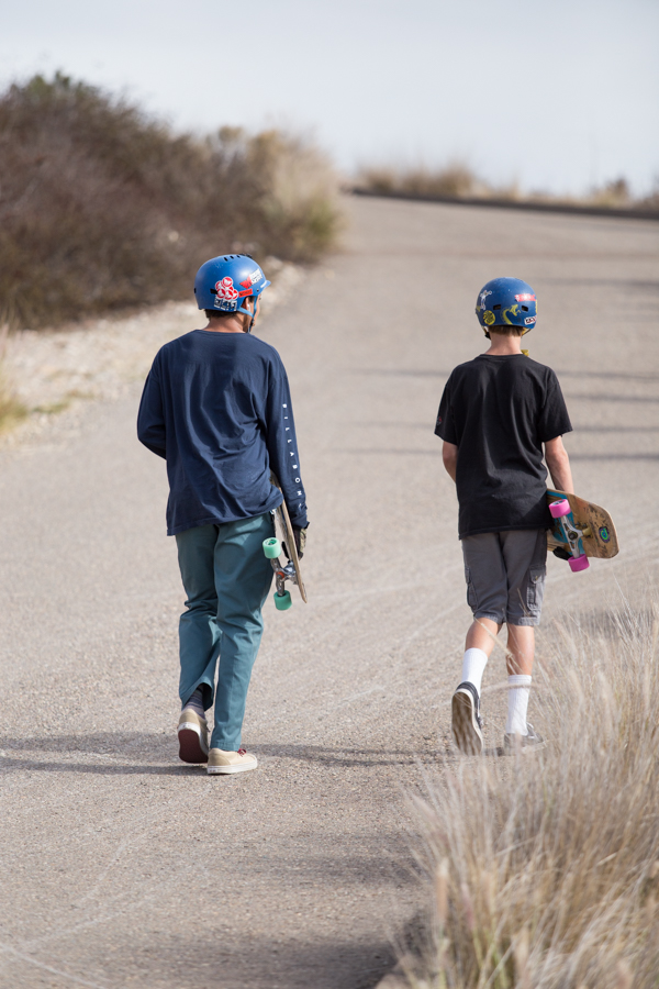 Remember: Half of downhill skating is walking back up.  For your health.   Photo: Grove