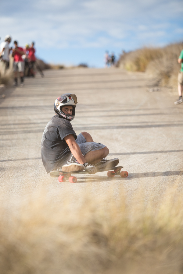 Going fast into the loopback slides. I dig it!  Photo: Grove