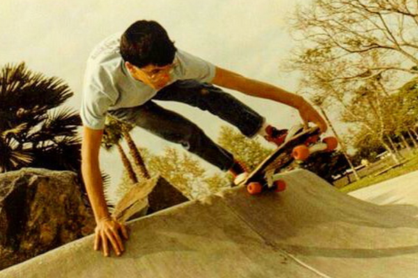 John Lucero laidback at Sadlands circa The 80s. Photo: Mark Waters.