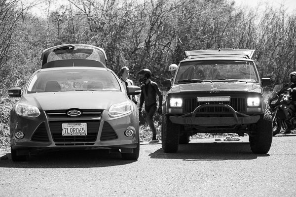 Cars loaded up, lets do this! Photo: Grove