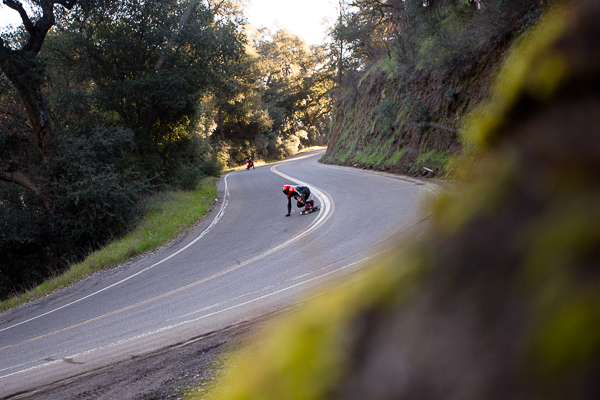 Max Ballesteros taking on the curves of a classic So Cal run. Photo: Grove