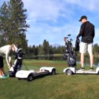 VIDEO: GolfBoard – The Skateboard Golf Cart Thing