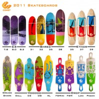 Comet Skateboards and Thier New 2011 Line are Radical, on a Number of Levels.
