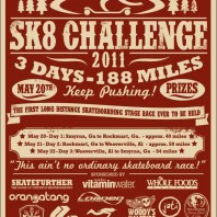 3 Day, 188 Mile Skateboard Stage-Race.