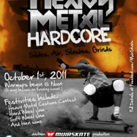 Heavy Metal Hard Core: A Slide Jam and Freeride. Saturday, Oct 1st.