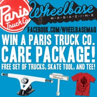 "The Wheelbase Facebook Giveaway: Paris Truck Co. ""Care Package"" (September, 2012)"